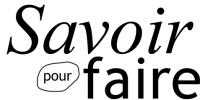 Logo Savoir pour faire